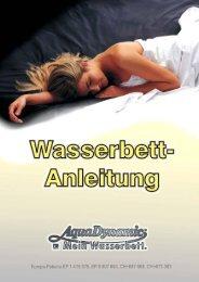 Aqua Dynamic Wasserbett-Anleitung - Rüedi AG Innendekoration