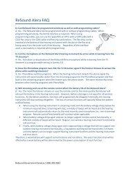 ReSound Alera FAQ - Resound Goverment Services Page - GN ...