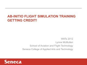 AB-INITIO FLIGHT SIMULATION TRAINING GETTING CREDIT!