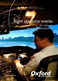 flight simulator events - Oxford Aviation Academy