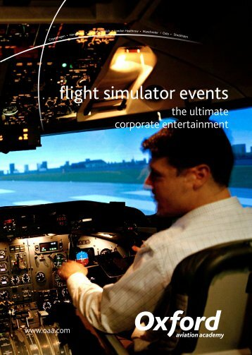 flight simulator events - Oxford Aviation Academy