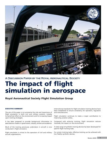 The impact of flight simulation in aerospace - Royal Aeronautical ...