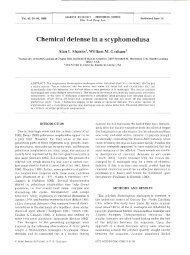 Chemical defense in a scyphomedusa - Inter Research