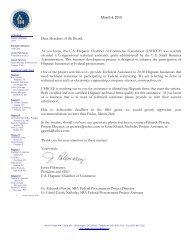 Dear Members of the Board: As you know, the U.S. Hispanic ...