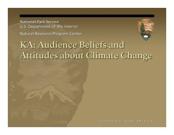 KA: Audience Beliefs and Attitudes about Climate ... - Earth to Sky