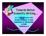Towards Better Scientific Writing