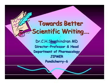 Towards Better Scientific Writing