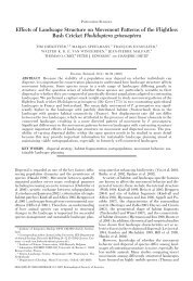 Effects of Landscape Structure on Movement Patterns of the ...
