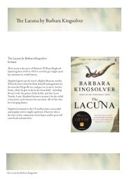 The Lacuna by Barbara Kingsolver - Faber and Faber
