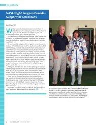 NASA Flight Surgeon Provides Support for Astronauts - American ...