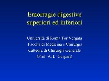 Emorragie digestive - Cattedra Chirurgia Tor Vergata