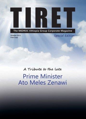 Prime Minister Ato Meles Zenawi - MIDROC Ethiopia