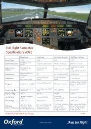 Full Flight Simulator Specifications A320