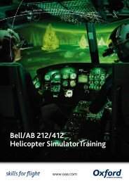Bell/AB 212/412 Helicopter SimulatorTraining - Oxford Aviation ...