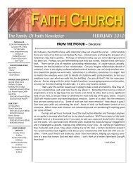 February Family of Faith Newsletter - PDF - Faith Church, Lancaster ...