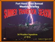 semi-annual aviation weather brief - Fort Hood