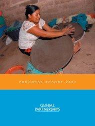 Progress Report 2007 - Global Partnerships