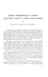 Position stratigraphique et evolution de la Pebble Culture au Sahara ...