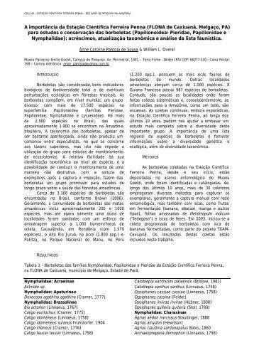 A importância da Estação Científica Ferreira Penna (FLONA de ...