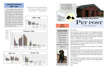 Pet Post Issue 59 - Salina Animal Shelter