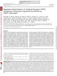 Repeated Administration of Vanilloid Receptor TRPV1 Antagonists ...