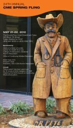 24th annual cme spring fling - Oklahoma State University Center for ...