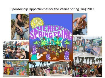 Sponsor Deck (pdf) - Venice Spring Fling