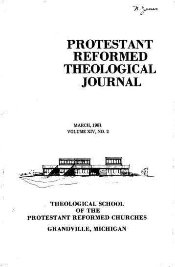 March 1981 (pdf) - Protestant Reformed Churches in America