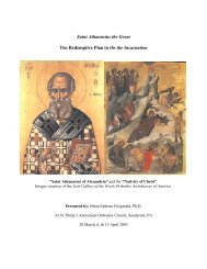 St. Athanasius the Great: The Redemptive Plan in - St. Philip ...