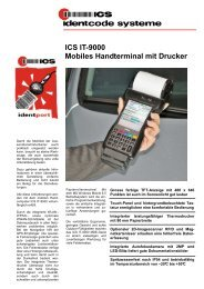 ICS IT-9000 Mobiles Handterminal mit ... - ICS Identcode Systeme AG