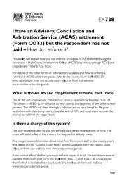 EX728 - I have an Advisory, Conciliation and Arbitration ... - Acas