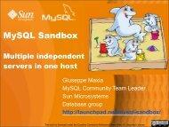 MySQL Sandbox - The Data Charmer