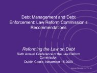 Debt Management and Debt Enforcement - Law Reform Commission