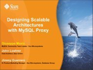 Designing Scalable Architectures with MySQL Proxy - The Data ...