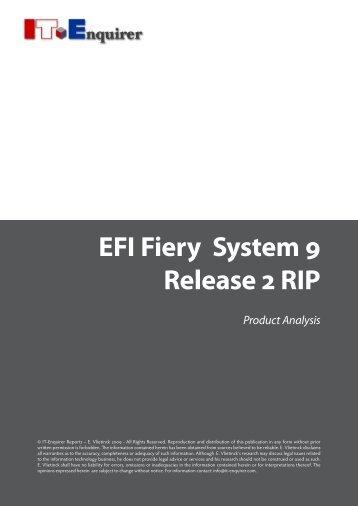 EFI Fiery System 9 Release 2 RIP - IT Enquirer
