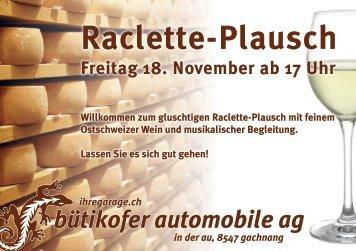 Raclette-Plausch - Bütikofer Automobile AG