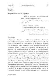 Chapitre 2 Pragmatique et sciences cognitives - Institut des ...
