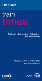 Timetable 11: Fife Circle - ScotRail