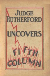 Judge Rutherford uncovers Fifth Column - Watchtower Archive