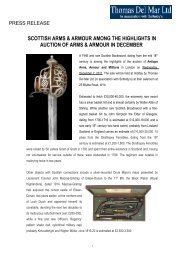 scottish arms & armour among the highlights in ... - Thomas Del Mar