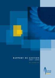RAPPORT DE GESTION 2007-2008 - Holdigaz