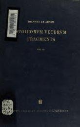 Stoicorum veterum fragmenta - College of Stoic Philosophers