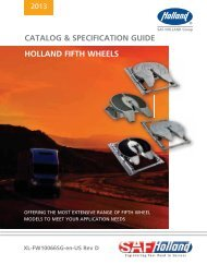 CATALOG & SPECIFICATION GUIDE HOLLAND FIFTH WHEELS