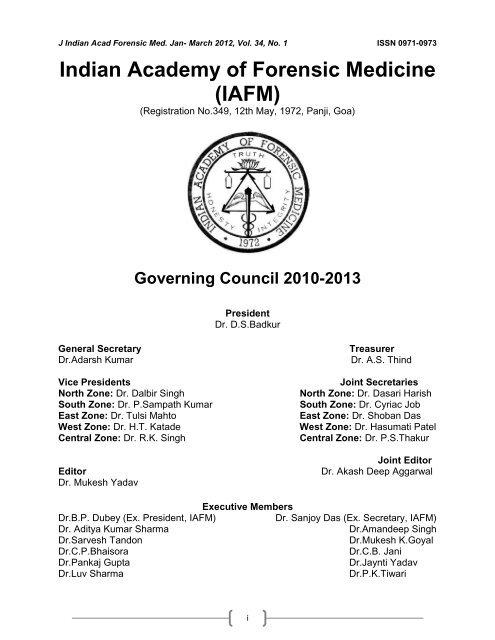 Indian Academy Of Forensic Medicine Iafm Official Website Of Iafm
