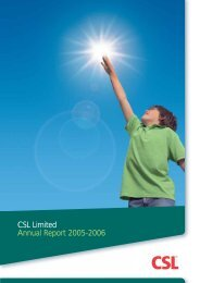 CSL Limited Annual Report 2005-2006 - Csl.com