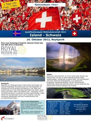 Island - Schweiz - Royal Reisen AG