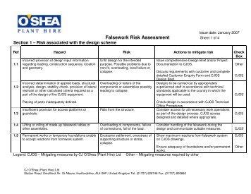 Inland dive site risk assessment template saddleworth sub.