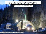 CONCRETE FORMWORK - DH Glabe & Associates