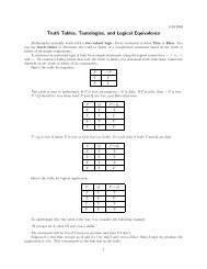 Truth Tables, Tautologies, and Logical Equivalence
