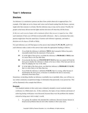 watson-glaser critical thinking appraisal - form b answers Watson-glaser ii critical thinking appraisal sample questions - commit your assignment to us and we will do our best for you professional writers engaged in the service will accomplish your assignment within the deadline allow us to take care of your essay or dissertation.